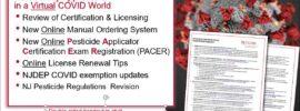 New Jersey Private Pesticide Applicators in a Virtual COVID World...